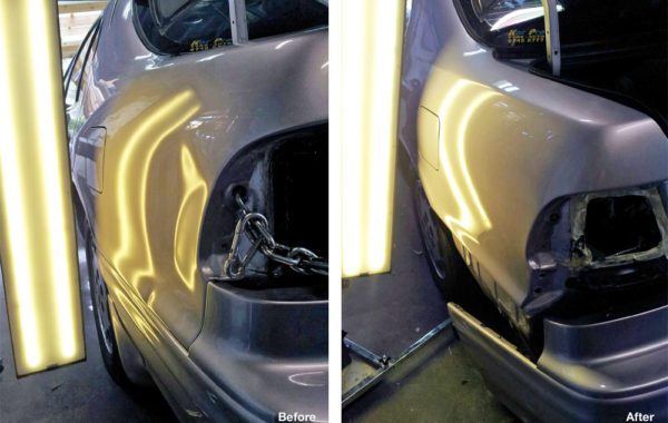 Nissan Maxima – Left Quarter Panel Damage